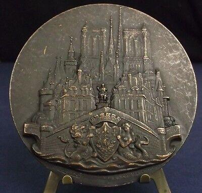 * Medalla Davis Monumentos Paris De Valentín El Campion 80mm Medal