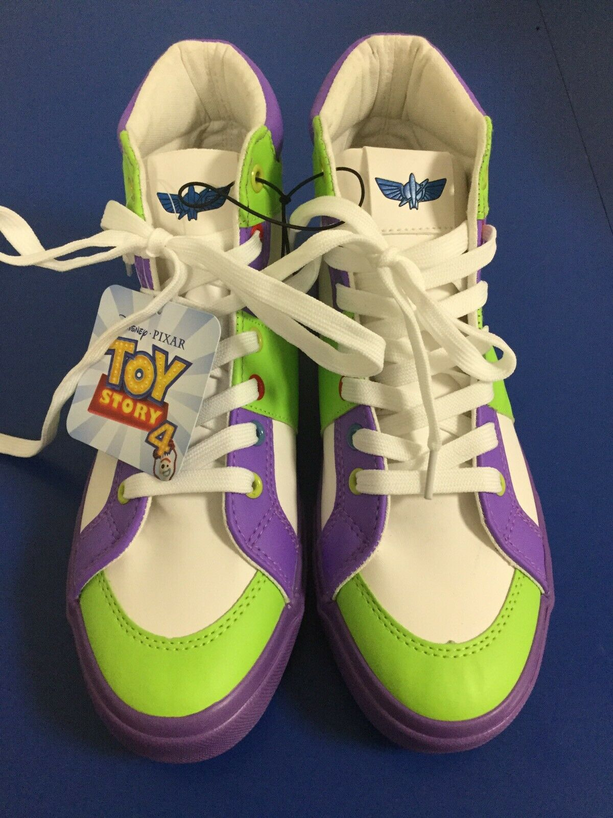 Toy Story 4 BUZZ LIGHTYEAR High Top Sneakers. Brand New. Adult Size 7.