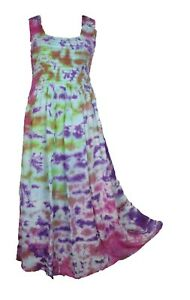 Tie-Dye-Long-Boho-Maxi-Dress-Sleeveless-Party-Evening-Size-14-16-18-20-22-24-SEP