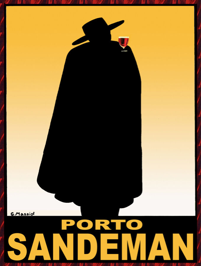 Quality POSTER.Porto Sandeman.Zorro rot wine.Home Room Decor Bar art print.q751