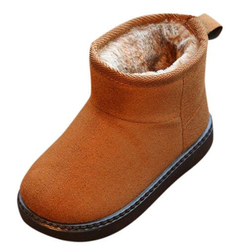 Bébé garçons filles bottes de neige chaud solide Casual troupeau Chaussures Semelle Souple 1-12Y