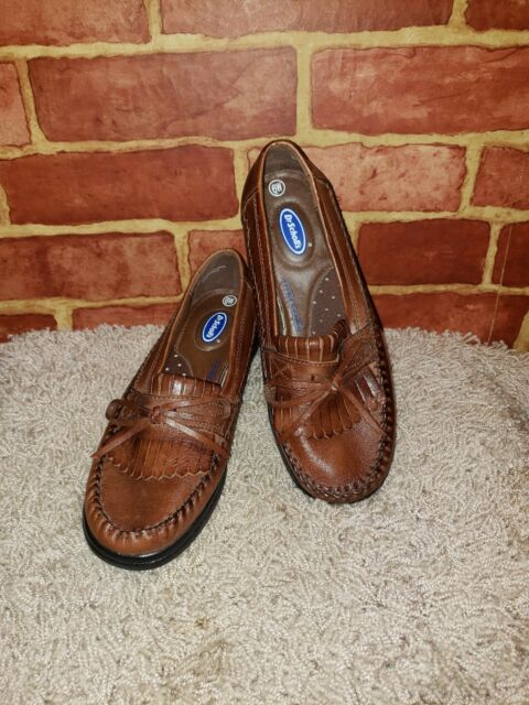 d2062f9165a Dr. Scholl s Women s Size 6W Brown Leather Moc Toe Loafer Tassel NEW ~2502~