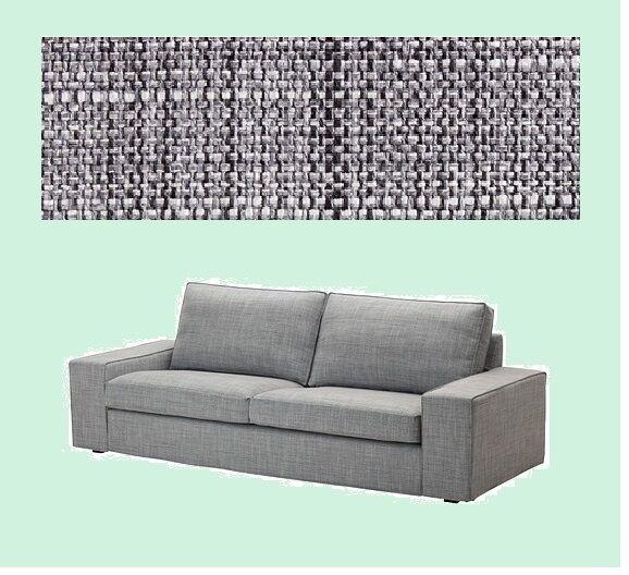 Ikea Kivik Ottoman With Storage Cover Isunda Gray Footstool Slipcover Grey Ebay