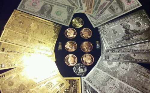 /<HUGE SET/>COLLECTIBLE COINS $1-$100 GOLD//SILVER/& Paper Rep.*Banknotes MORE!!