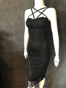 uk availability cheap stable quality Details about NEW WITH TAGS - EVITA BOUTIQUE BLACK LACE PENCIL DRESS - UK 10