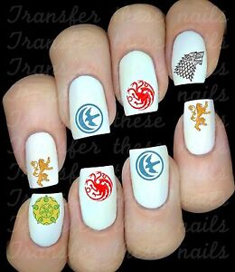 Game-of-Thrones-le-trone-de-fer-30-Stickers-ongles-manucure-nail-art-water-deco