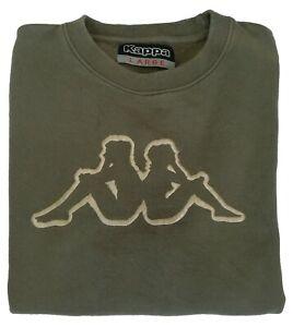 Kappa-Sweater-Nice-Men-039-s-Green-Sport-T-Shirt-Size-L-Long-Sleeves-100-Cotton