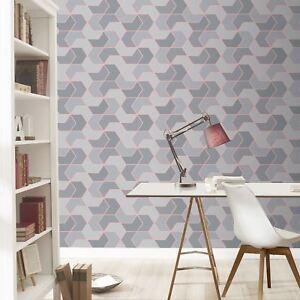 Portefeuille-Hexagonale-Geo-Peint-Gris-Dore-Rose-Rasch-270334-Paillete-Sparkle