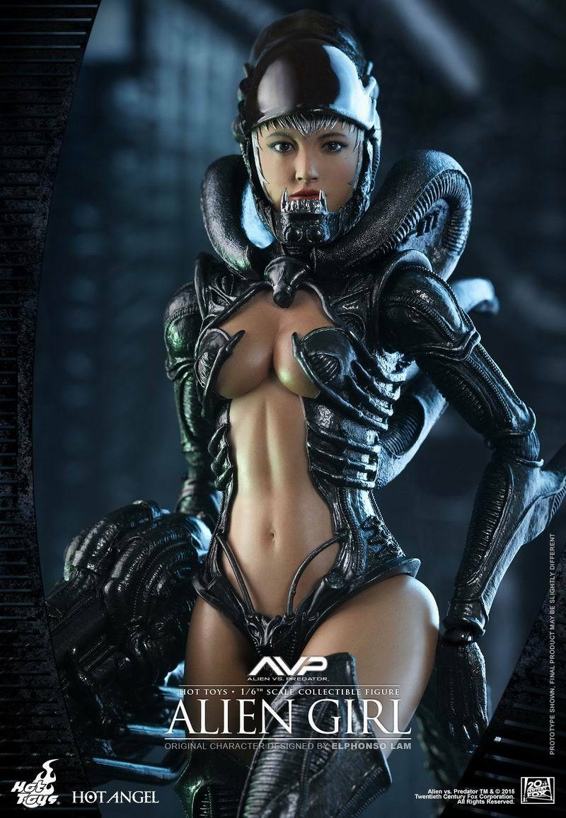 Hot Toys 1 6 Alien Vs Projoator Alien Girl Sexta Escala Figura HAS002 Hot Angel
