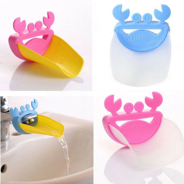 New Crab Shape Child Tap Gutter Sink Guide Bathroom Water Faucet Extender