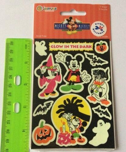 Sandylion Vintage Glow in the dark Halloween Mickey Mouse Adesivi MAXI FOGLIO