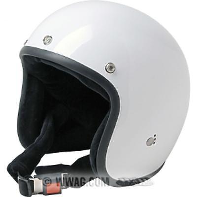 misura m-l casco demi jet custom bianco lucido met