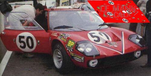 Calcas Ligier JS1 Le Mans 1970 50 1:32 1:24 1:43 1:18 JS slot decals