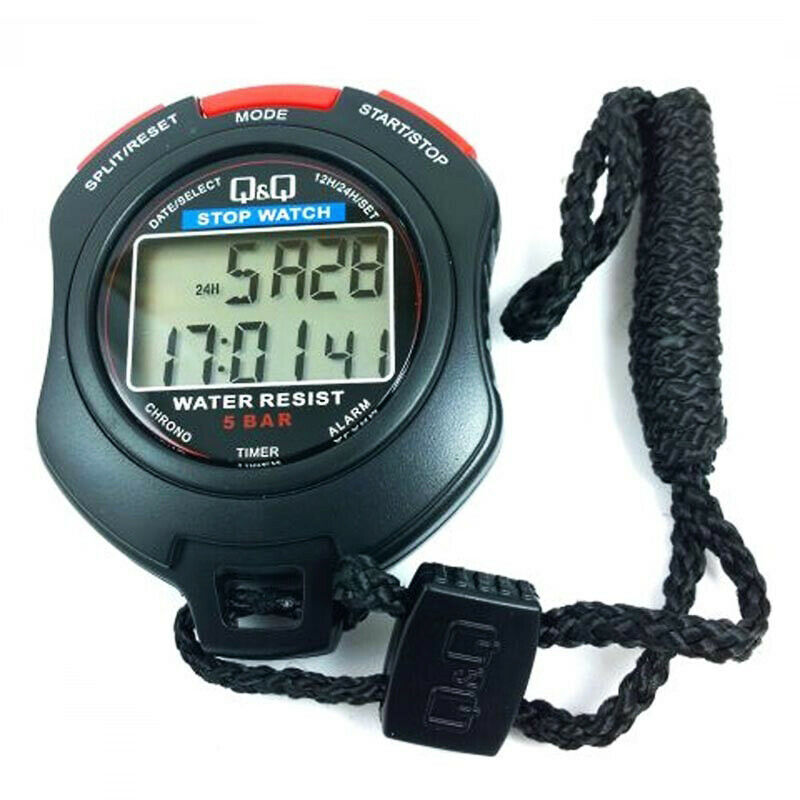 Cronometro Professionale Stopwatch QeQ By Citizen Resistente All'Acqua HS47J003Y