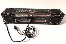 Vintage Sanyo M W 550 Dual Cassette Player Boom Box Radio Retro 1985