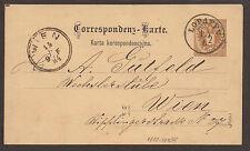 Austria/Österreich/Galicia/Ucrania/Polonia. 1884. MATASELLOS. Lopatyn tarjeta.