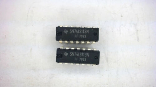 TEXAS INSTRUMENTS SN74LS113N 14-Pin Dip Integrated Circuit Qty-10