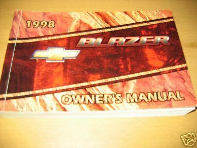 1998 CHEVROLET BLAZER OWNERS MANUAL 98 OWNER/'S