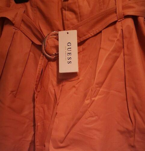 stile Pantaloncini Uk8 cintura Peach Nwt donna in Guess Us6 ecopelle da con 6ddOpSqx