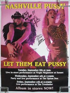 NASHVILLE-Pussy-Let-Them-Eat-Pussy-1997-SIGNED-Promo-POSTER-w-LA-Tour-Dates