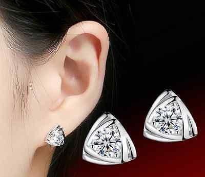 Wholesale 925 Silver Crystal Earrings Ear Stud Women Fashion Jewelry 60 Style