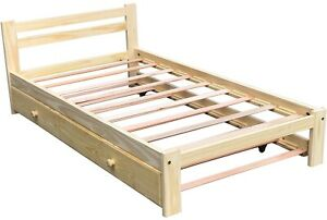 Brand-New-Amazonas-Twin-Size-Bed-amp-Trundle-Unfinished-Solid-Pine-Wood