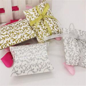 5pcs-Oreiller-forme-faveur-Boite-Cadeau-Mariage-Fete-Gateau-impression-Candy-decor-box