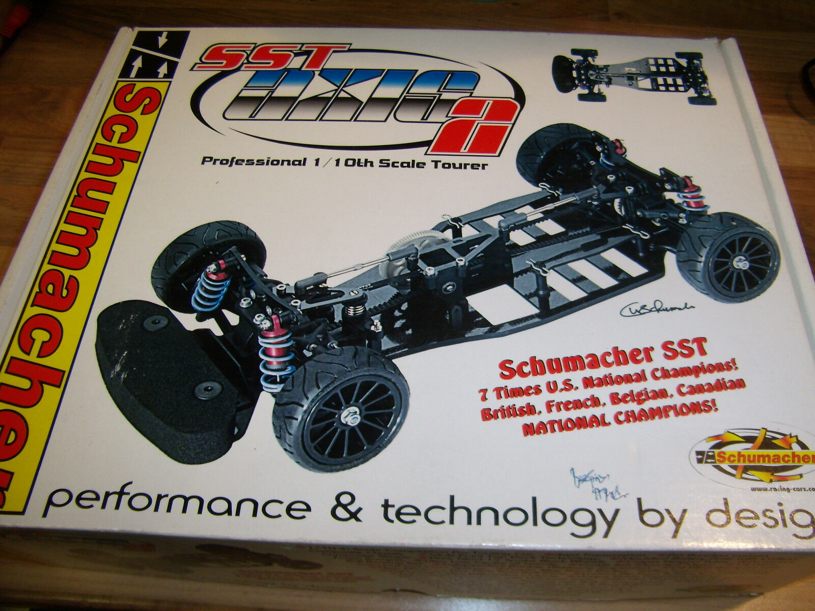Vintage Schumacher K025E SST AXIS 2 Touring Carbon Composite Chassis Kit