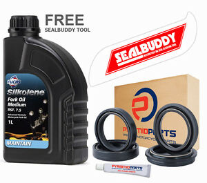 Triumph-Thunderbird-900-95-03-Fork-Seals-Dust-Seals-Silkolene-Oil-FREE-TOOL