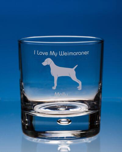 Dog Lover Gift Personalised Weimaraner Whisky Glass Weimaraner Lover Gift