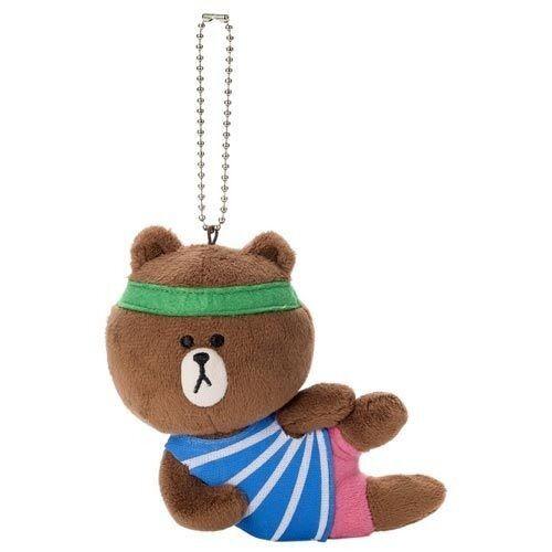"JAPAN TAKARA TOMY A.R.T.S LINE APP CHARACTERS /""BROWN/"" PLUSH DOLL BALL CHAIN 16"