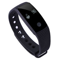 Smart Wristband With Heart Rate Sleep Monitor Activity Sport Tracker - Black
