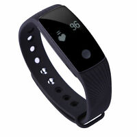 Smart Wristband With Heart Rate Sleep Monitor Activity Sport Tracker - Black on sale