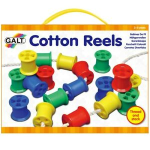 Galt-Cotton-Reels-Children-039-s-Threading-Cotton-Reel-and-Laces-Fine-Motor-Toy