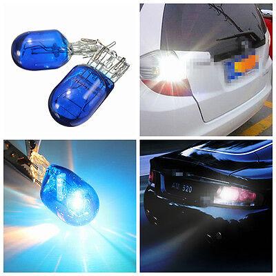 2x Blue W21 5W T20 580 7443 Xenon White Halogen DRL Sidelight Light Hid Bulb 12V