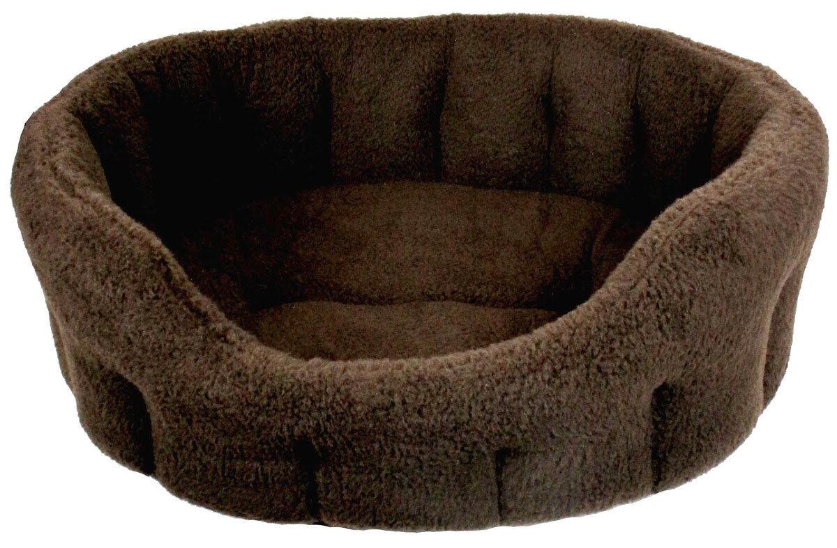 Fleece Material Softee Dog Beds Dark braun From Pets & Leisure