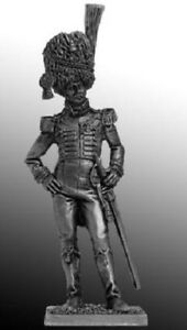Napoleonic-Wars-Naples-Colonel-of-the-Guards-54-mm-Lead-Figure