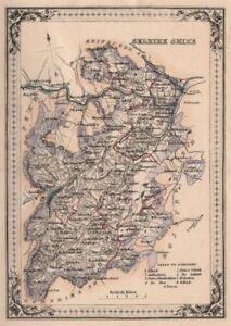 Décoratif Antique County Map Of Selkirkshire, écosse. Fullarton 1868-afficher Le Titre D'origine