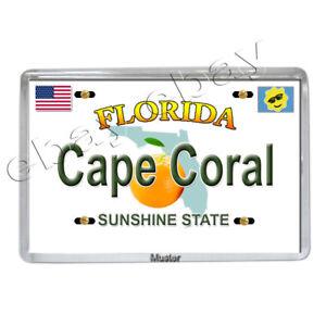 Souvenir Foto Magnet Fotomagnet 5mm Acryl Neu Florida Cape Coral