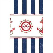 SUMMER Anchors Aweigh PLASTIC TABLE COVER ~ Birthday Party Supplies Cloth Blue