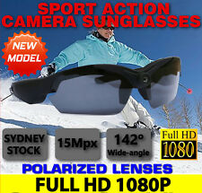 SunGlasses Camera Ski Sport Action Security 1080P Video Home DVR Glasses (No SPY