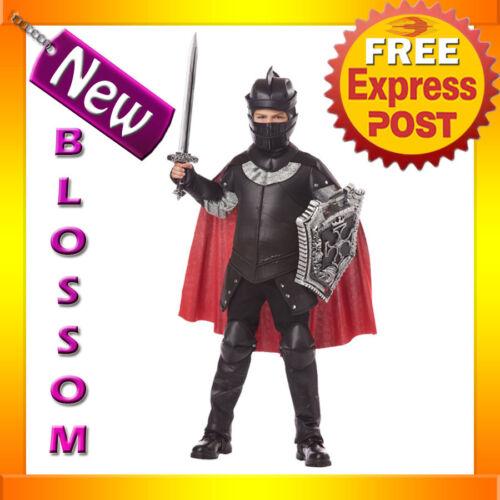 CK98 The Black Knight Medieval Child Warrior Halloween Boys Book Week Costume