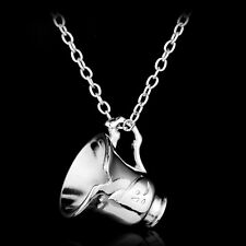 Once Upon A Time Rumbelle Bella Clip Tea Cup Silver Plated Pendant Necklace