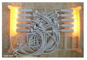 10er Mini Lichterkette,10 Lichter weisse Kabel Klare Lichter warm ...