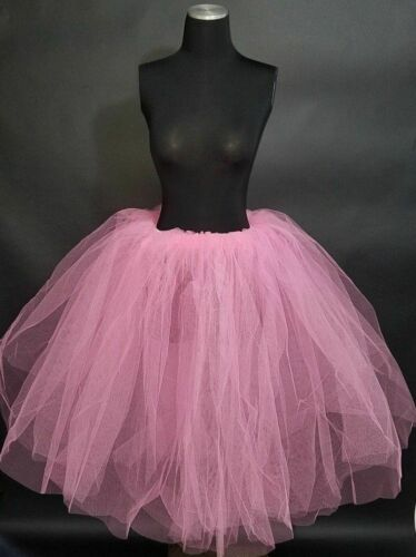 "Romantic Ballet Tutu Net Skirt Dance Costume 28/"" Long Pink or Blue One Size Fits"