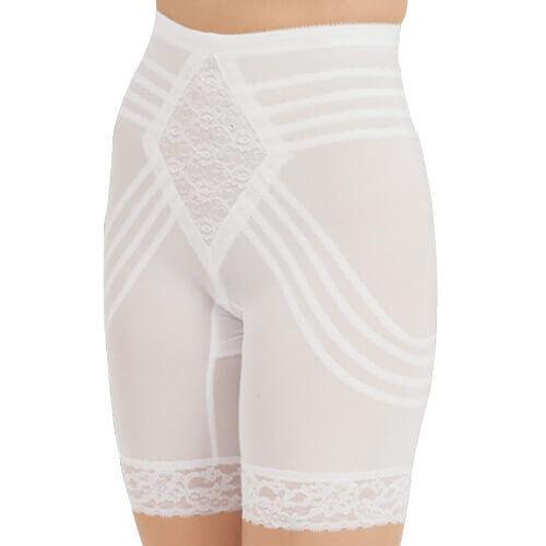 Rago Shapewear Shapette Firm Control Long Leg White Shaper Plus Size 40 5XL