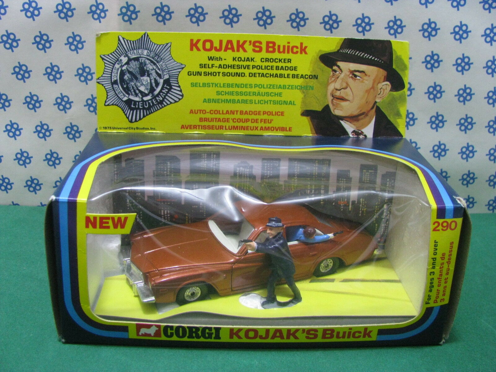Vintage-Kojak 's Buick Regal TV Series-Corgi Toys 290 Superbe Menta