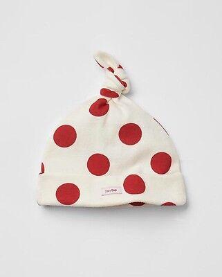 Dot Knot Hat GAP Baby Boy Ivory Christmas Girl Size Newborn NWT Red