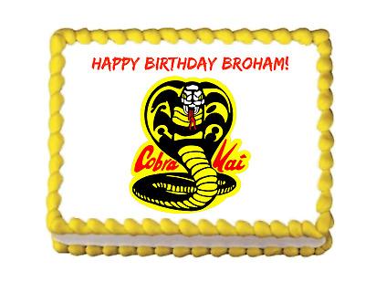 COBRA KAI Edible image Birthday Cake topper decoration ...