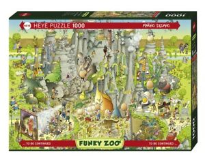 MARINO DEGANO - FUNKY ZOO : JURASSIC HABITAT - Heye Puzzle 29727 - 1000 Pcs.